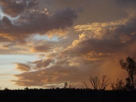 mutawintji heritage tours colored evening sky