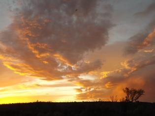 mutawintji heritage tours fire in the evening sky